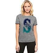 '47 Women's Seattle Mariners Super Hero Grey Scoop Neck T-Shirt