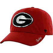 '47 Women's Georgia Bulldogs Red Clean Up Sparkle Adjustable Hat