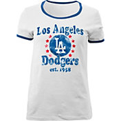 5th & Ocean Women's Los Angeles Dodgers White T-Shirt