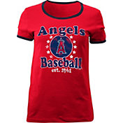 5th & Ocean Women's Los Angeles Angels Red T-Shirt