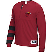 adidas Men's Miami Heat On-Court Red Long Sleeve Shooting Shirt