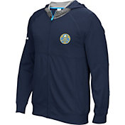 adidas Men's Denver Nuggets Pre-Game Navy Full-Zip Hoodie