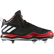 adidas Men's PowerAlley 4 Mid Metal Baseball Cleats