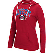 adidas Women's Los Angeles Clippers Big Arch Red Fleece Crewdie