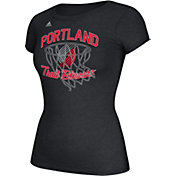 adidas Women's Portland Trail Blazers Bling Net Black T-Shirt