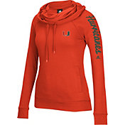 adidas Women's Miami Hurricanes Orange Tunnel Neck Long Sleeve Shirt