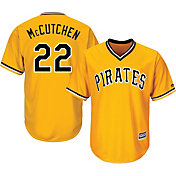 Majestic Youth Replica Pittsburgh Pirates Andrew McCutchen #22 Cool Base Alternate Gold Jersey