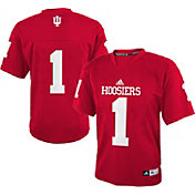 adidas Youth Indiana Hoosiers #1 Crimson Replica Football Jersey