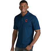 Antigua Men's Cleveland Indians Navy Inspire Performance Polo