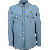 Antigua Men's Seattle Sounders Chambray Long-Sleeve Shirt