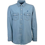 Antigua Men's Detroit Lions Chambray Button-Up Shirt