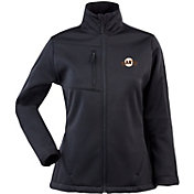 Antigua Women's San Francisco Giants Black Traverse Soft Shell Full-Zip Jacket