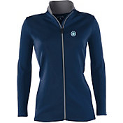 Antigua Women's Seattle Mariners Leader Navy Full-Zip Jacket