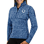 Antigua Women's Indianapolis Colts Fortune Blue Pullover Jacket