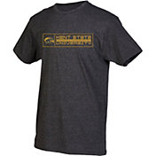 boxercraft Men's Kent State Golden Flashes Grey Just for You Crew Block Wordmark and Logo T-Shirt
