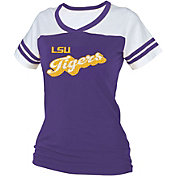 boxercraft Women's LSU Tigers Purple/White Powder Puff T-Shirt