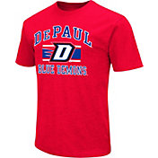 Colosseum Men's DePaul Blue Demons Red Dual Blend T-Shirt