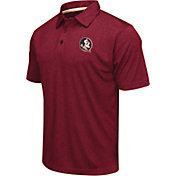 Colosseum Men's Florida State Seminoles Garnet Heathered Performance Polo
