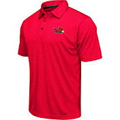 Colosseum Men's Illinois State Redbirds Red Heathered Performance Polo