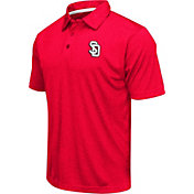 Colosseum Men's South Dakota Coyotes Red Heathered Performance Polo