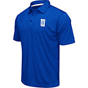 Colosseum Men's Tulsa Golden Hurricane Blue Heathered Performance Polo