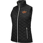 Colosseum Athletics Women's Oklahoma State Cowboys Elite Quilted Black Vest