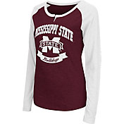 Colosseum Athletics Women's Mississippi State Bulldogs Maroon Healy Long Sleeve Shirt