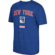 CCM Men's New York Rangers Stitches Needed Royal T-Shirt