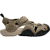 Crocs Men's Swiftwater Suede Fisherman Sandals