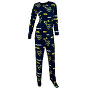 Concepts Sport Women's West Virginia Mountaineers Blue Union Suit