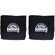 "Franklin Colorado Rockies Black 2.5"" Wristbands"