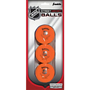 Franklin NHL Hi Density Street Hockey Balls – 3 Pack