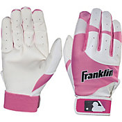 Franklin Girls' Flex Series Pink Batting Gloves