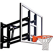 "Goalsetter 72"" Adjustable Glass Backboard and HD Breakaway Rim"