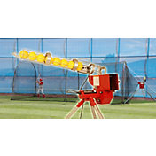 Heater Softball Pitching Machine & Xtender 24' Batting Cage