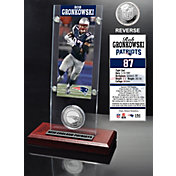 The Highland Mint New England Patriots Rob Gronkowski Ticket and Coin Desktop Display