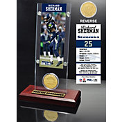 The Highland Mint Seattle Seahawks Richard Sherman Ticket and Bronze Coin Desktop Display
