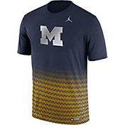 Jordan Men's Michigan Wolverines Blue New Day Innovation Football T-Shirt
