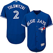 Majestic Men's Authentic Toronto Blue Jays Troy Tulowitzki #2 Alternate Royal Flex Base On-Field Jersey