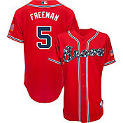 Majestic Men's Authentic Atlanta Braves Freddie Freeman #5 Cool Base Alternate Red On-Field Jersey