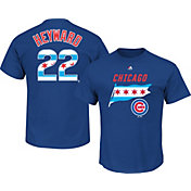 Majestic Men's Chicago Cubs Jason Heyward #22 Royal State Flag T-Shirt