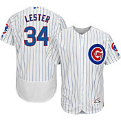 Majestic Men's Authentic Chicago Cubs Jon Lester #34 Home White Flex Base On-Field Jersey