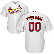 Majestic Men's Custom Cool Base Replica St. Louis Cardinals Home White Jersey