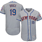 Majestic Men's Authentic New York Mets Jay Bruce #19 Road Grey Flex Base On-Field Jersey