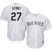 Majestic Men's Replica Colorado Rockies Trevor Story #11 Cool Base Home White Jersey
