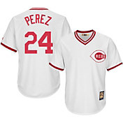 Majestic Men's Replica Cincinnati Reds Tony Perez Cool Base White Cooperstown Jersey