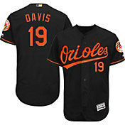 Majestic Men's Authentic Baltimore Orioles Chris Davis #19 Alternate Black Flex Base On-Field Jersey
