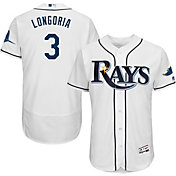 Majestic Men's Authentic Tampa Bay Rays Evan Longoria #3 Home White Flex Base On-Field Jersey