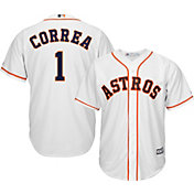 Majestic Men's Replica Houston Astros Carlos Correa #1 Cool Base Home White Jersey
