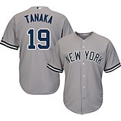 Majestic Men's Replica New York Yankees Masahiro Tanaka #19 Cool Base Road Grey Jersey